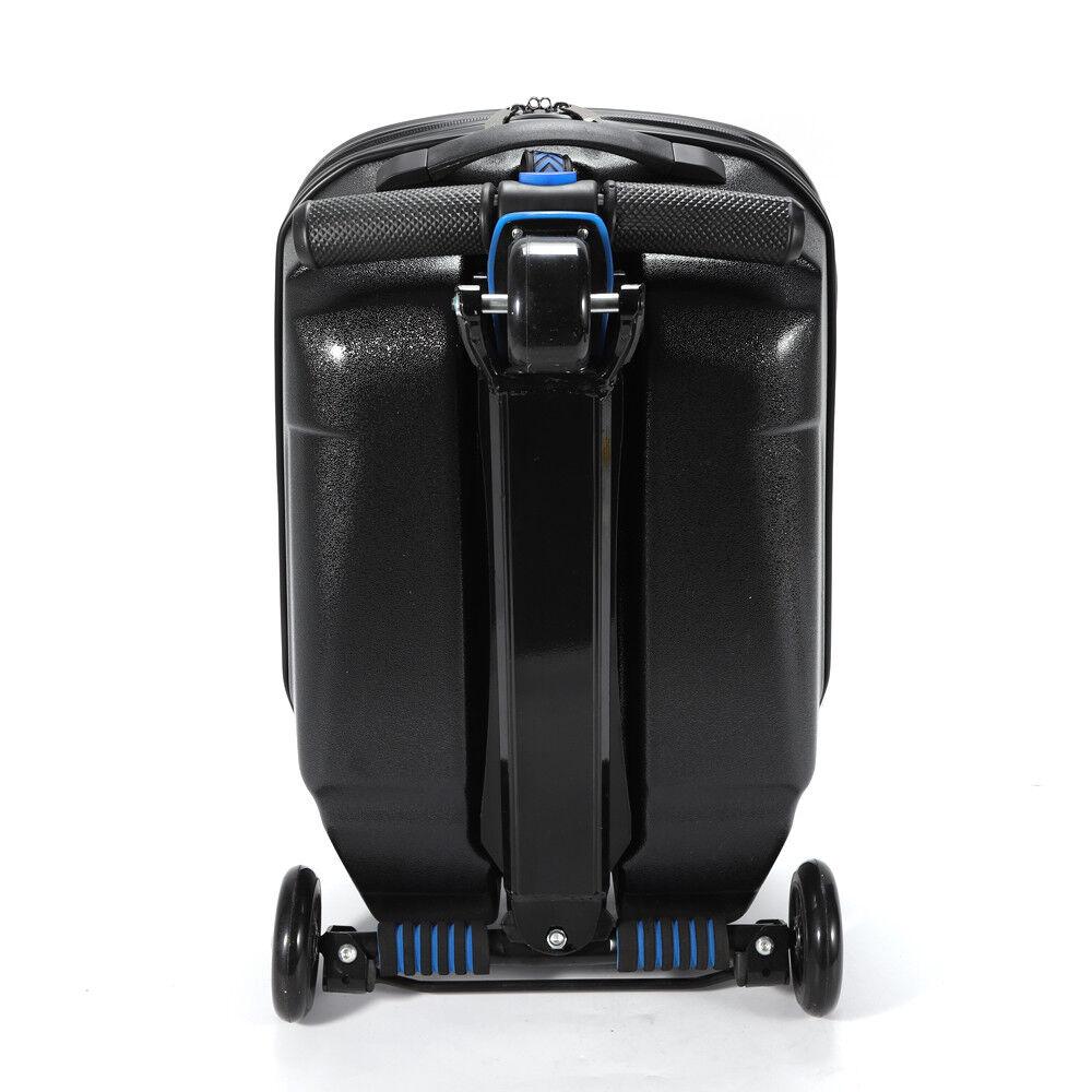 NUOVO 20 3 ruote BAGAGLIO Carry Bagagli Da Viaggio Pieghevole Scooter Trolley Custodia Top
