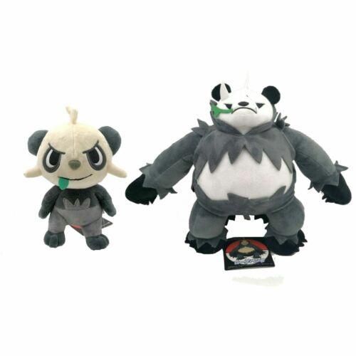 2X Pangoro Pancham Playful Daunting Pokemon Plush Toy Panda Stuffed Animal Doll