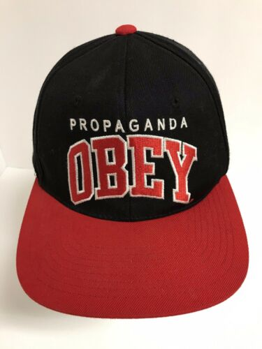 Propaganda Obey Red Black Snapback Hat - image 1