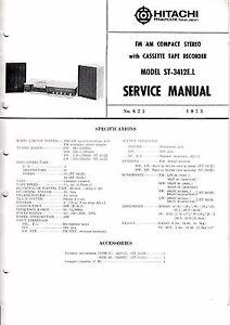 Tv, Video & Audio Offen Service Manual-anleitung Für Hitachi St-3412