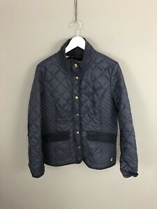 JOULES-MOREDALE-Quilted-Jacket-UK14-Navy-Great-Condition-Women-s