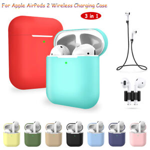 For Apple Airpods 2 Wireless Charger Protective Silicone Case