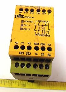 PILZ 774730 PNOZ X4 24VDC 3N//O 1N//C SAFETY RELAY