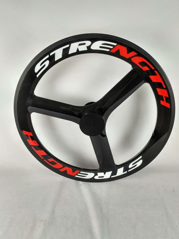 Festigkeit Carbon tri speed wheel Hinterrad Radsatz 65mm Tiefe 700C 3 speed