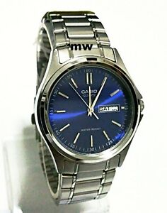 Casio-MTP-1239D-2A-Quartz-Analogue-Blue-Dial-Day-Date-Classic-Gents-Men-039-s-Watch