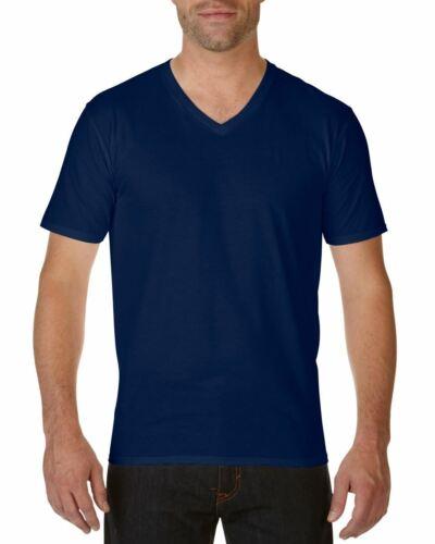 Gildan MEN/'S T-SHIRT V-NECK PREMIUM SOFT COTTON PLAIN SUMMER FASHION TEE