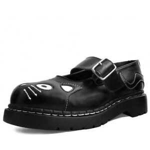 T. U. K. T2260 Mujer Vegano Hebilla Zapatos Negros Tukskin™ Gatito Mary Jane