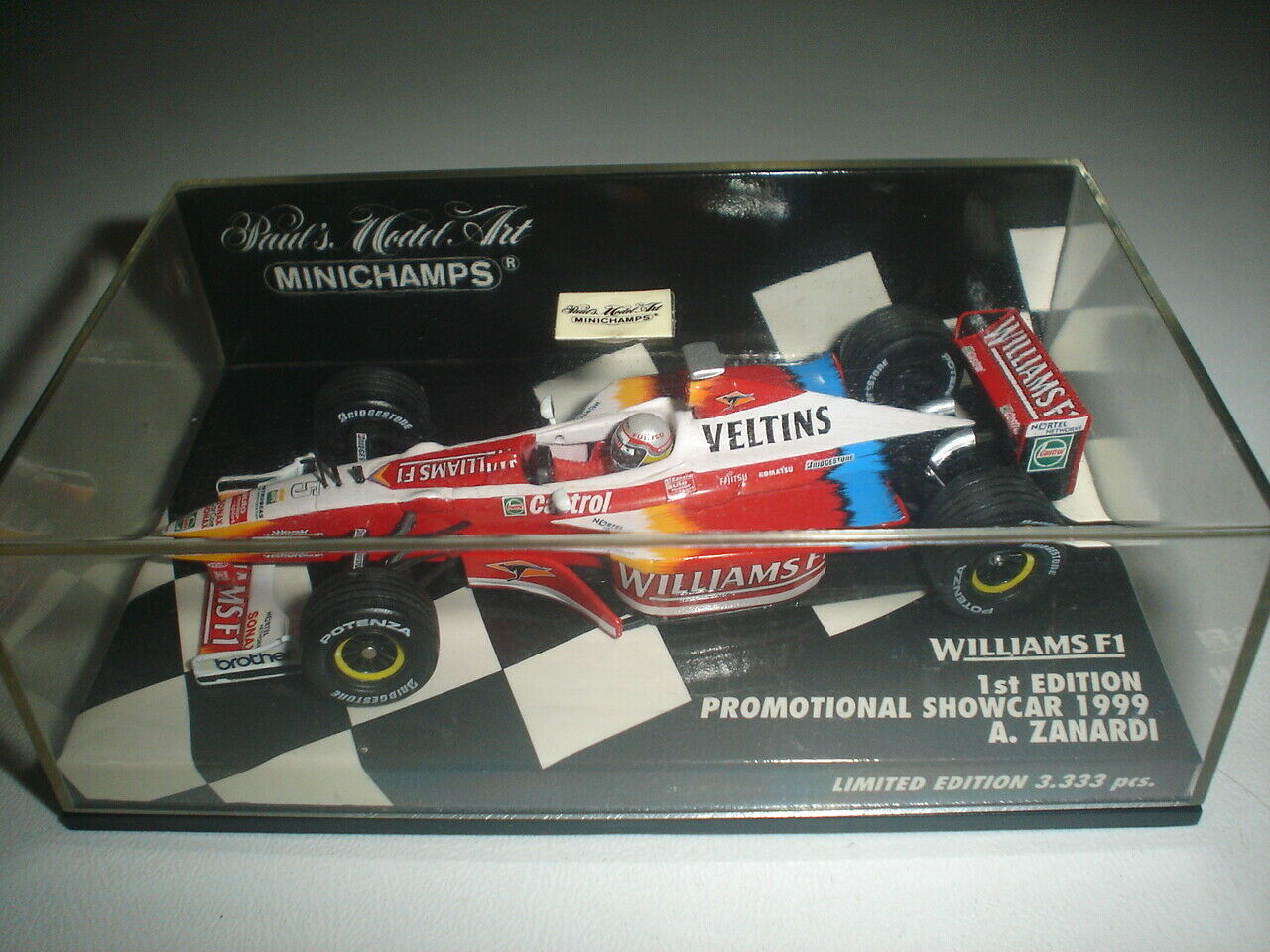 Williams F1 1st.Edition Show Car 1999 - - - Alex Zanardi -1 43 - Rare & Collectable ee9c0d
