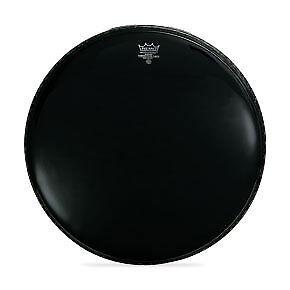 "Remo 22/"" Ebony Powerstroke 3 Bass Drumhead w// 5/"" Black Dynamo"