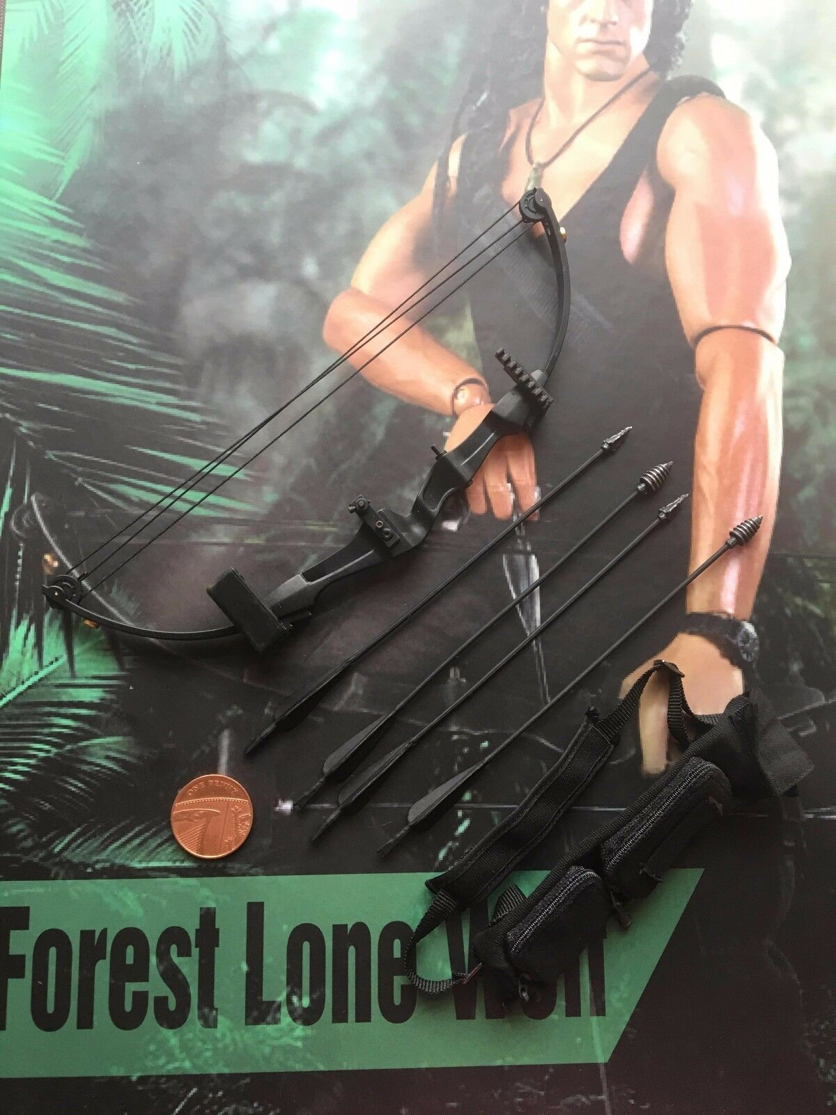 HaoYu Toys Forest Lone Wolf John Rambo Rambo Rambo Tactical Bow & Arrows loose 1 6th scale 22b963