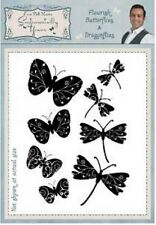 FLOURISH BUTTERFLIES & DRAGONFLIES Sentimentally Yours Stamps Phill Martin SYFDB