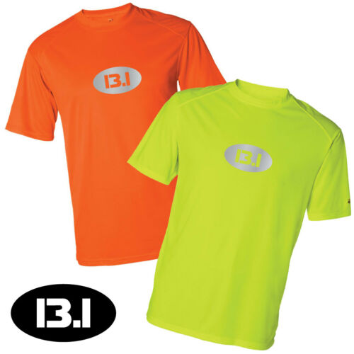 Men/'s Performance T-shirt Safety Runner Marathon 26.2  or Half Marathon 13.1