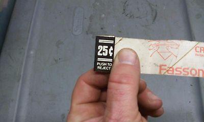 atari arcade coin entry .25 cent sticker