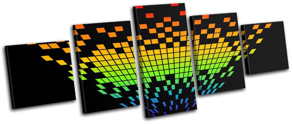 Digital Digital Digital Levels Music DJ Club MULTI TELA parete arte foto stampa d9bbc4