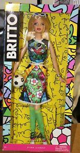 Designer Britto Brazil Soccer Pink Label Barbie Doll