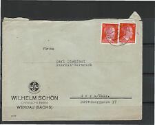 Imperio alemán plenamente sello Werdau Sajonia gera par de demanda de justificante autoriza corriendo