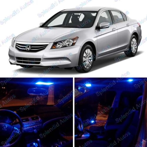 # 52 Ultra Blue  Interior LED Package For Honda Accord 2003-2012 8  Pieces