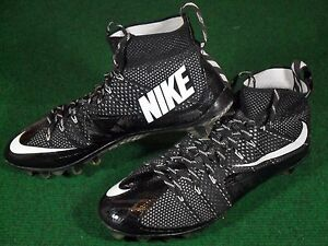 ec5bf1769 Used Mens Nike Vapor Untouchable Football Cleats Black White size 12 ...