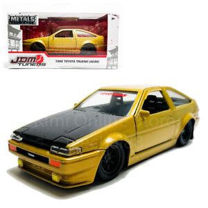 Jada-1-32-JDM-Tuners-Die-Cast-1986-Toyota-Trueno-AE86-Car-Gold-Model-Collectio