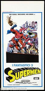 I-FANTASTICI-3-SUPERMEN-LOCANDINA-CINEMA-AZIONE-SUPER-EROI-1967-PLAYBILL-POSTER