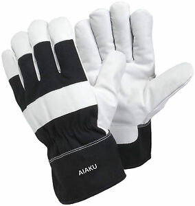 Genuine Leather Heavy Duty Work Gloves Best For Tough Rough Work