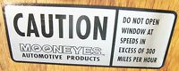 Mooneyes ' Caution 'decal Hot Rat Rod Sticker Muscle Car Drag Race Genuine Moon