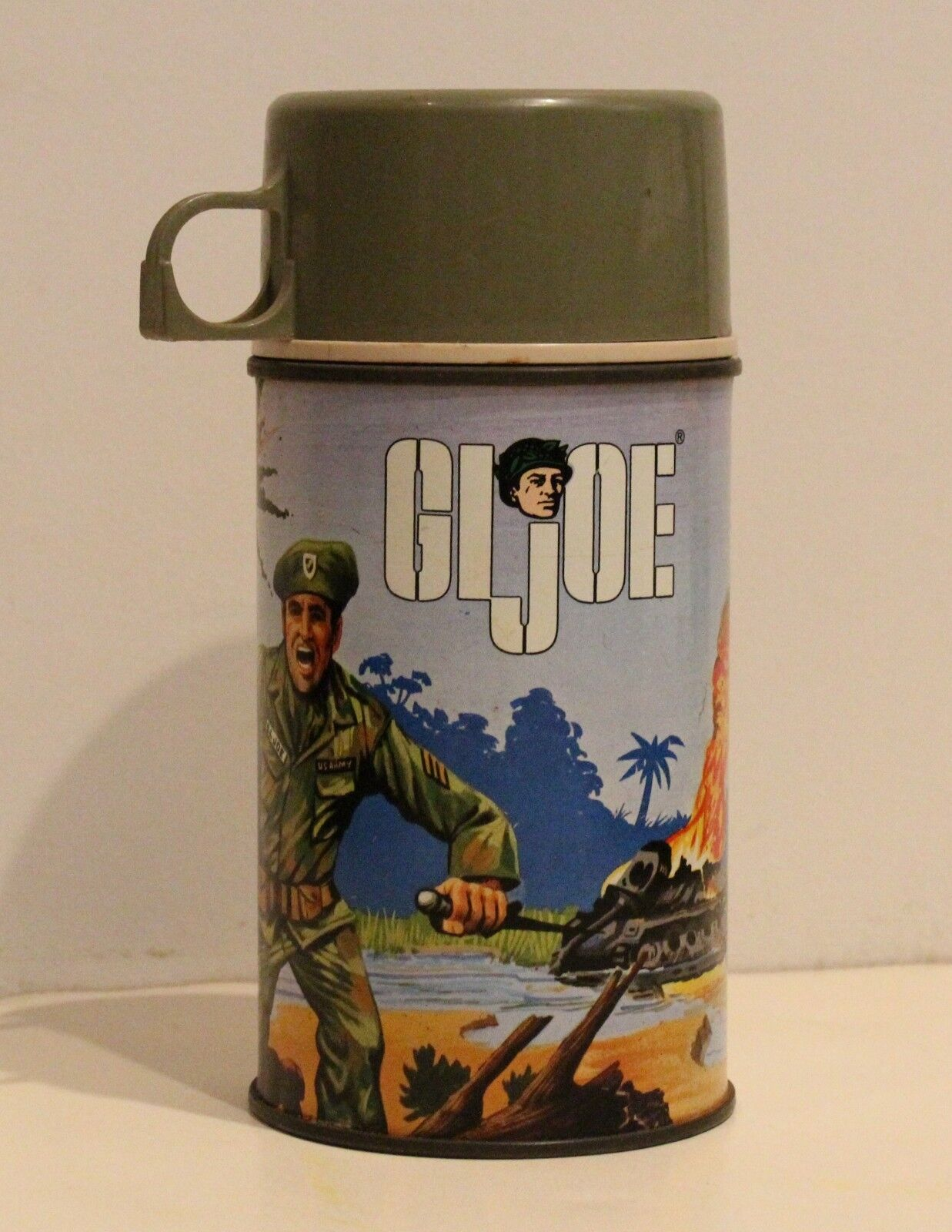 Original 1967 hasbro gi joe lunchbox thermoskanne