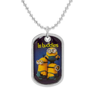 NEW in Box w/Tags Minions Stuart, Kevin & Bob Dogtag Necklace - FREE Shipping!