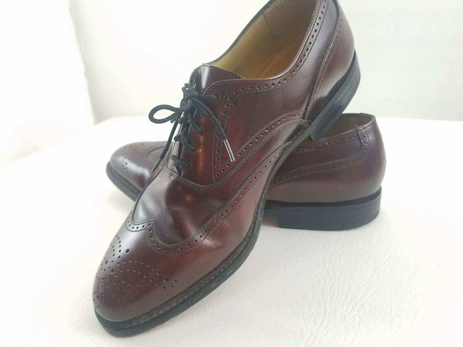 Johnston And Murphy Aristocraft ? Leather Wing Tip Oxford Shoes Men 8.5