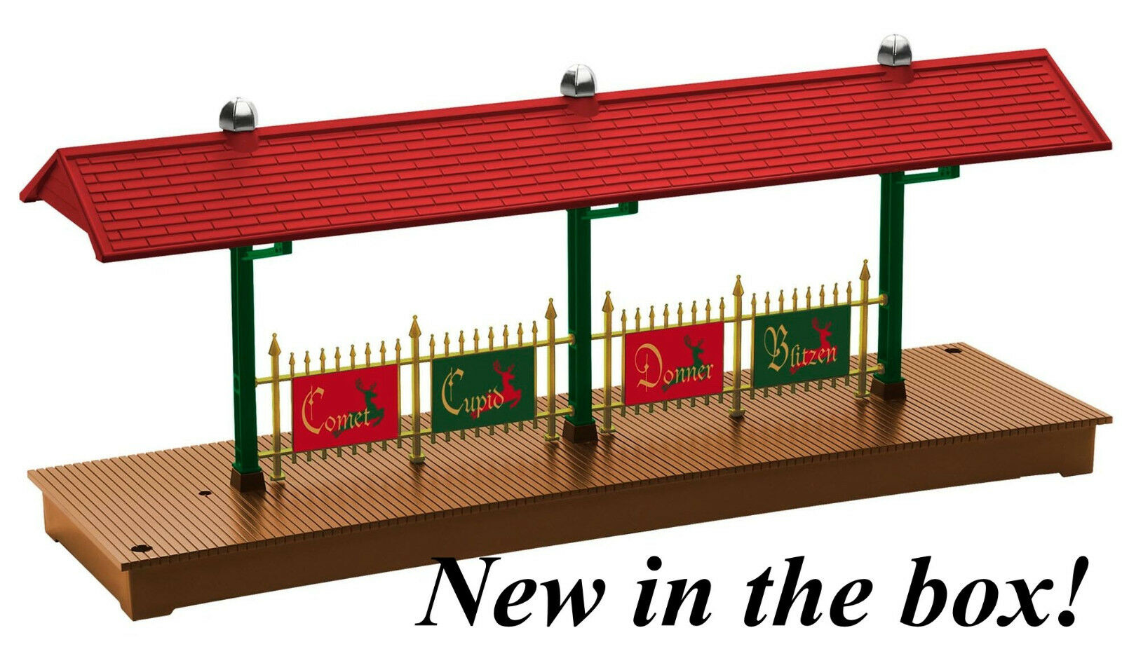 LIONEL Christmas Station Platform o gauge train NOT lighted 6-82743 NIB NR alt