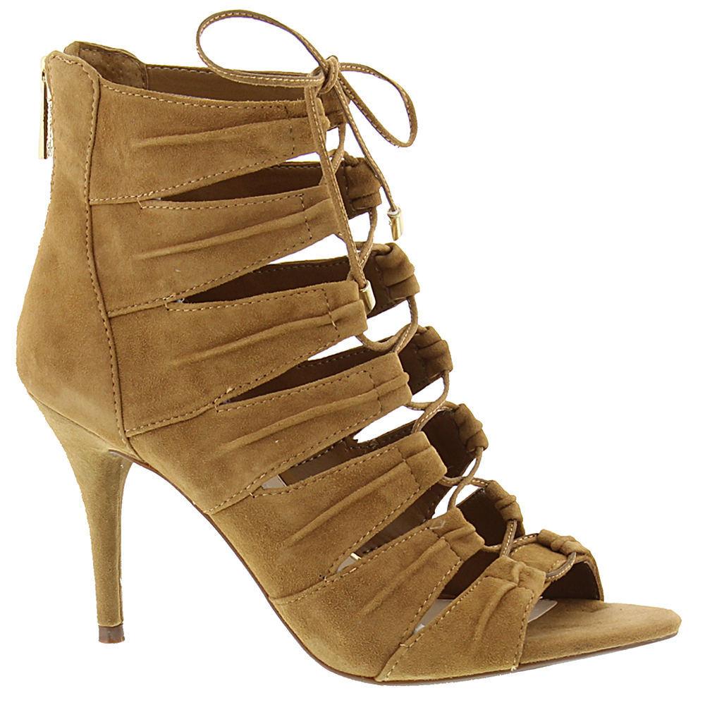 Jessica Simpson Mahiri 6.5 Honey Braun Suede Open-toe Stiletto Dress Pump Sandale