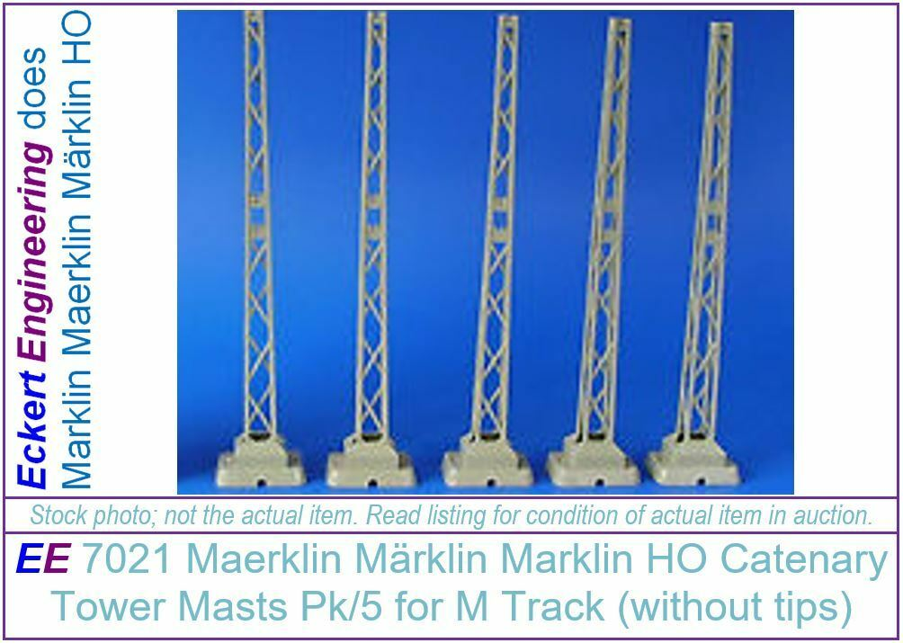 EE 7021 EXC Marklin Old Style Catenary Tower Masts Pk 5 without Finale (Tips)