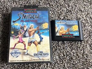 Shadow-Blasters-Sega-Genesis-Game-And-Box-Only-Tested-And-Working-Authentic