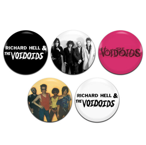 1 Inch D Pin Button Badges 5x Richard Hell /& The Voidoids Band Punk Rock 25mm