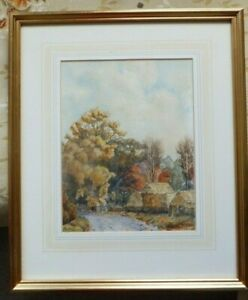 Original-Mid-20th-century-Watercolour-landscape-painting-by-Howard-Warner-signed