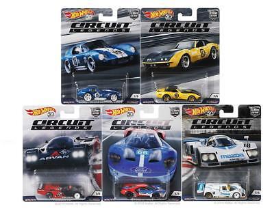hot wheels 50th anniversary 1 64 car culture circuit legends series set of 5 car 887961619805 ebay