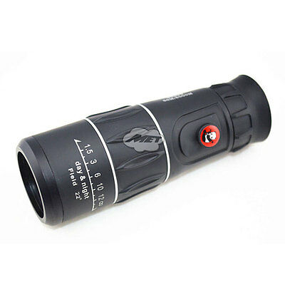 26x52 Monocular Zoom Telescope Large Lens Outdoor Sport Hunting Camping Black