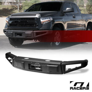 For 2014-2021 Toyota Tundra Black RT Style Modular Full Width Steel Front Bumper