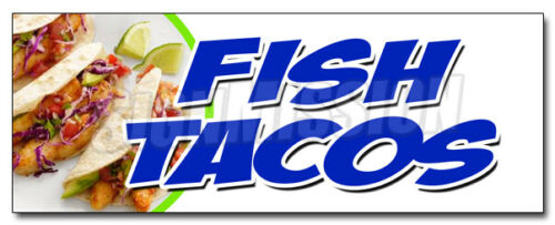 FISH TACOS DECAL sticker fried grilled fresh tasty guacamole burrito