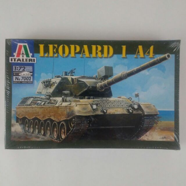 Italeri 1:72 Scale German Leopard 1 A4 Tank Model Kit Sealed New No. 7002