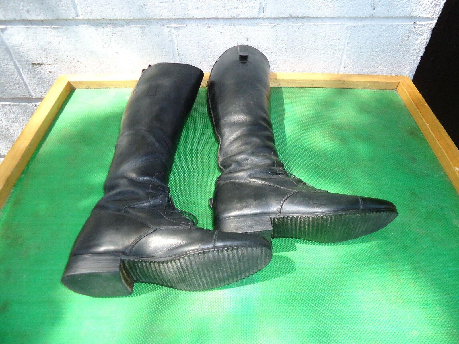 E. Vogel campo Personalizado Negro Cuero Alto Ecuestre Equitación Bota para mujeres tamaño   7.5