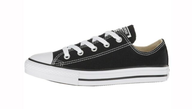 CONVERSE All Star Low Chuck Taylor Black Canvas Youth BOYS Shoes Medium Sneakers