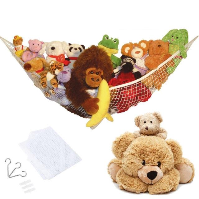 LARGE TOY SOFT TEDDY HAMMOCK MESH BABY CHILDS BEDROOM TIDY STORAGE NURSERY NET