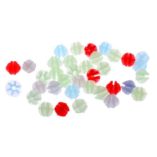 134pcs bunte Plastikclip Kinder Mädchen Fahrrad Felge sprach Perlen