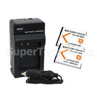 2 Battery + Charger For Sony Np-bn1 Dsc-w610 Dsc-w570 Dsc-w560 Dsc-w530 Dsc-w510