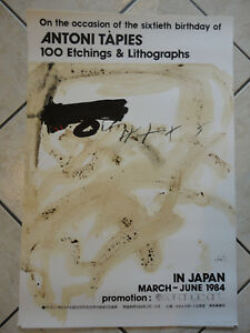 Plakat-Antoni-Tapies-034-100-Etchings-amp-Lithographs-034-in-Japan-March-June-1984