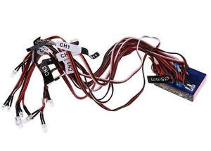 RC-Car-LED-Light-System-12-LED-Lights-for-1-10-HSP-Traxxas-Car