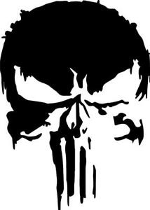 Splatter Punisher Decal Die-cut Vinyl Splat Punisher Sticker