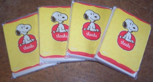 Lot of 4 packages Vintage Hallmark Snoopy Thank You Note Cards /& Envelopes