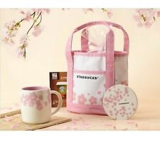Starbucks Coffee Mini Sakura Canvas Tote Lunch Box Bag 18x26x12 cm